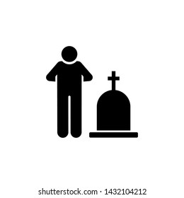 Man funeral grave cultures icon. Element of pictogram death illustration