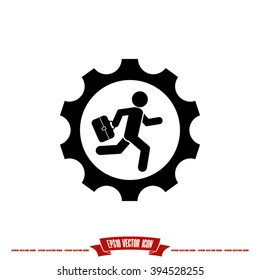 man in gear icon vector illustration eps10.
