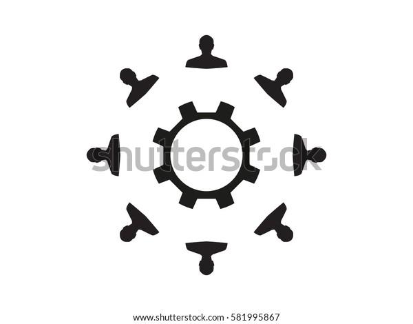 man, gear, icon, vector illustration eps10