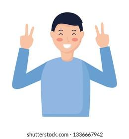 man gesture hands