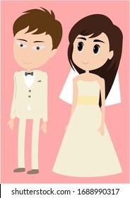 man and girl wedding couple