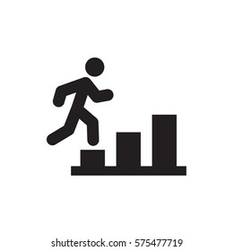 man going up icon.