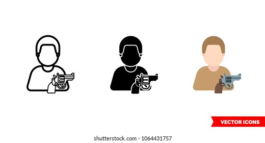 Man With Gun Symbol Images Stock Photos Vectors Shutterstock