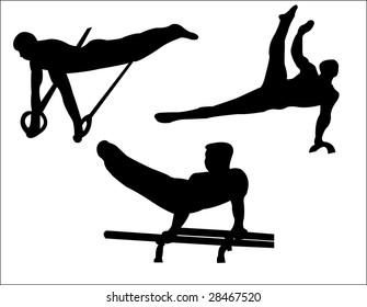 man gymnastics silhouette