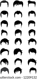 Man Hair styles collection vector
