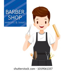 Man Hairdresser With Barber Shop Equipment, Facial, Skin, Treatment, Beauty, Cosmetic, Makeup, Healthy, Lifestyle