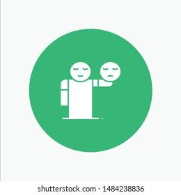 Man, Hand, Emojis, Healthcare. Vector Icon Template background