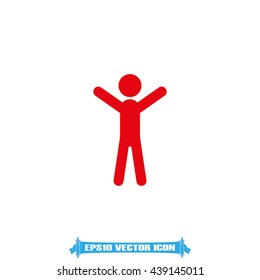 Man hands up icon vector illustration eps10