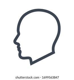 Man head icon vector graphic.