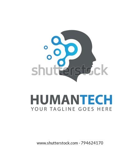 Man Head Logo Abstraction Thinking Mind