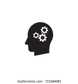 Man head mind thinking vector icon