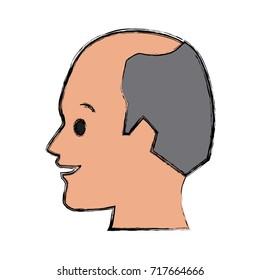 Man head silhouette