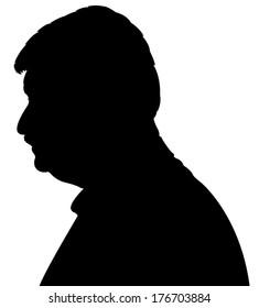 a man head silhouette vector