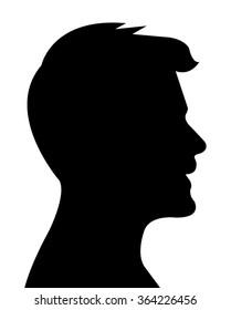 a man head silhouette vector
