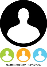 Man head silhouette Vector icon isolated