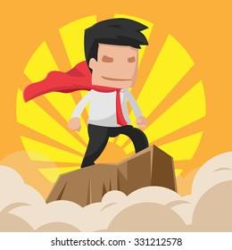 Man Hero Worker Power Business Vector