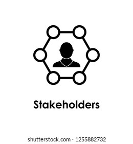 man, hexagon, stakeholders icon. One of business collection icons for websites, web design, mobile app