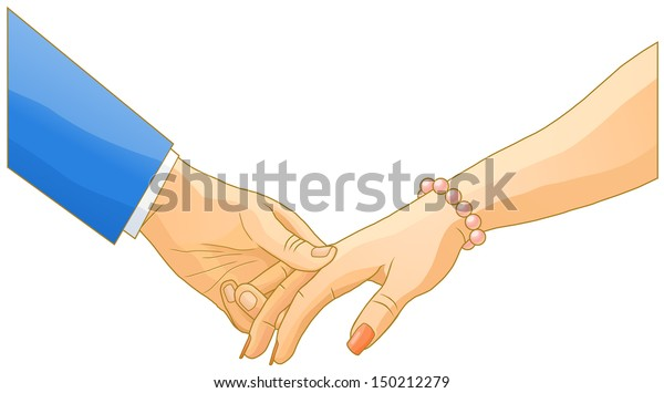 Man and his lady holding hands