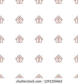 man in home icon pattern seamless white background. Editable outline man in home icon. man in home icon pattern for web and mobile.