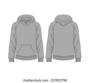 Man hoodie. Vector template