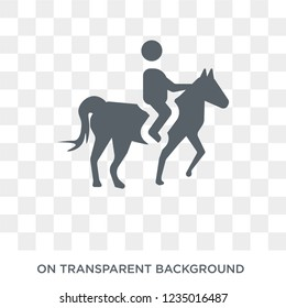 Man Horseriding icon. Trendy flat vector Man Horseriding icon on transparent background from People collection.