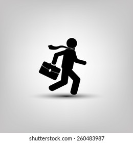 man in a hurry to work