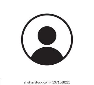man icon flat vector