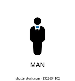 Man icon. Man symbol design. Stock - Vector illustration can be used for web