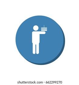Man Icon Vector flat design style