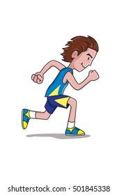 man jogger health runner character
