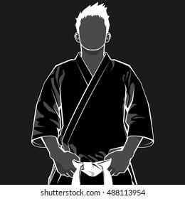 Man of Keikogi - black -