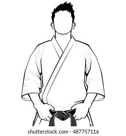 Man of Keikogi - monochrome -