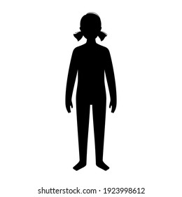 Man or kid silhouette with slim figure. Male persons with normal weight. Normal BMI range. Adult or child character with moderate fat level. Result of diet and healthy lifestyle vector illustration.