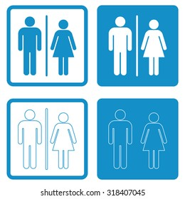 A man and a lady toilet sign . People icon . Vector illustration