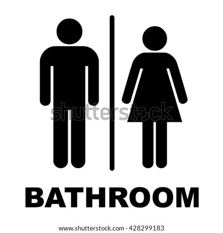 Man Lady Toilet Sign People Icon Stock Vector Royalty Free