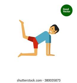 Man lifting leg