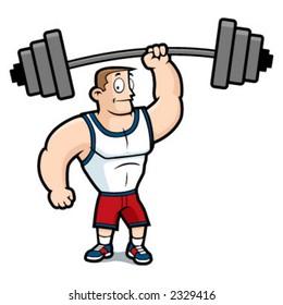 Weight Lifting Cartoon Images, Stock Photos & Vectors | Shutterstock