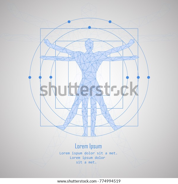 Man Low Poly Isolated On Gray Stock Vector Royalty Free 774994519