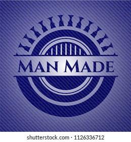 Man Made emblem with denim texture