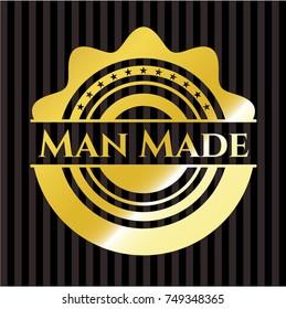 Man Made gold badge