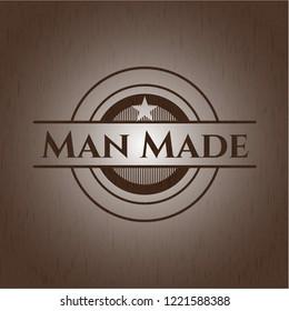 Man Made vintage wood emblem