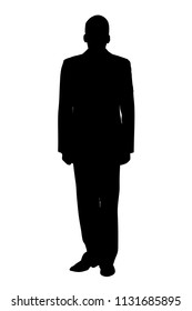 Man in military uniform vector silhouette
