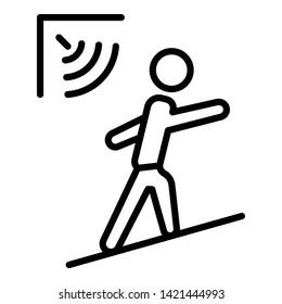 Man motion sensor icon. Outline man motion sensor vector icon for web design isolated on white background