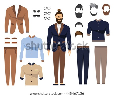 0c094d280ef Man Office Clothes Stylish Uniform Design Stock Vector (Royalty Free ...