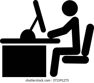 man on the computer vector