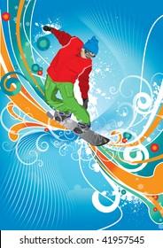 man on the snowboard