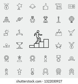man on the stairs icon. Succes and awards icons universal set for web and mobile