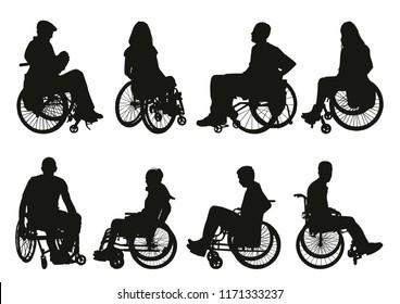man on a wheelchair silhouette