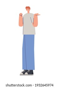 man over a white background vector illustration design