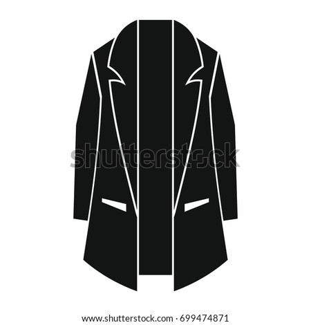 324656d41ccb Man overcoat in black simple silhouette style icons vector illustration for  design and web isolated on white background. - Vector